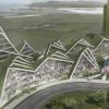 BIG将花莲公寓描述为商业和住宅项目的山峦景观