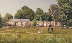 FeildenFowles计划为约克郡雕塑公园夯土游客中心